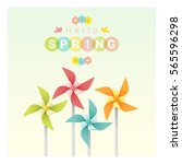 hello spring background with...   Shutterstock .eps vector #565596298