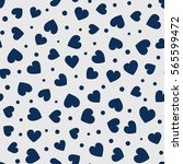 seamless hearts and dots... | Shutterstock .eps vector #565599472