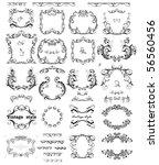 set of vintage frames   Shutterstock .eps vector #56560456