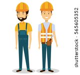 builders group avatars... | Shutterstock .eps vector #565605352