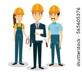 builders group avatars... | Shutterstock .eps vector #565605376