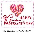 happy valentines day typography ... | Shutterstock .eps vector #565612855