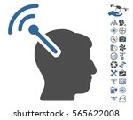 radio neural interface icon...