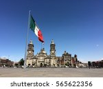 m xico city cathedral and main...   Shutterstock . vector #565622356