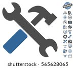 hammer and wrench pictograph... | Shutterstock .eps vector #565628065