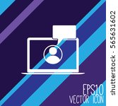 laptop icon vector. flat style... | Shutterstock .eps vector #565631602