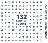 service silhouette icon   Shutterstock .eps vector #565631992
