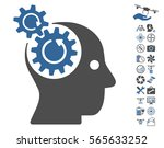 brain gears rotation pictograph ... | Shutterstock .eps vector #565633252