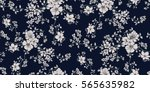 seamless floral pattern in... | Shutterstock .eps vector #565635982
