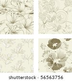 Floral Seamless Pattern. Set 1