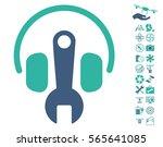 headphones tuning wrench... | Shutterstock .eps vector #565641085