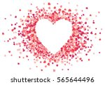 heart shape vector pink... | Shutterstock .eps vector #565644496