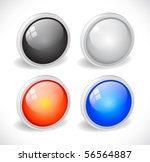 color 3d buttons for web. vector | Shutterstock .eps vector #56564887