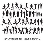 silhouette object set isolate... | Shutterstock .eps vector #565650442