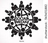 social network vector logo...   Shutterstock .eps vector #565651882