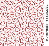 hearts background. seamless... | Shutterstock .eps vector #565652392