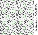 hearts seamless pattern in... | Shutterstock .eps vector #565652506