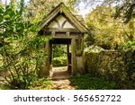 Wooden Lynch Gate  In Woods ...