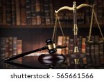 law theme  mallet of the judge  ... | Shutterstock . vector #565661566