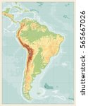 south america detailed physical ...   Shutterstock .eps vector #565667026