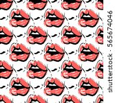 pop art vector seamless pattern ... | Shutterstock .eps vector #565674046