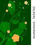 vector floral green background | Shutterstock .eps vector #5656762