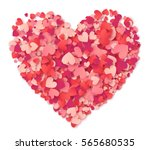 vector big heart made from... | Shutterstock .eps vector #565680535