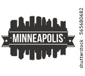 minneapolis skyline stamp... | Shutterstock .eps vector #565680682