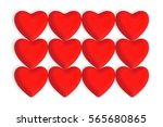 red love hearts on a white... | Shutterstock . vector #565680865