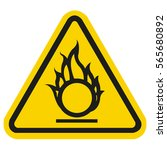 oxidizing warning sign | Shutterstock .eps vector #565680892