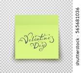 office paper sheet or sticky... | Shutterstock .eps vector #565681036