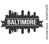 baltimore skyline stamp... | Shutterstock .eps vector #565691635