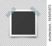 realistic square photo frame... | Shutterstock .eps vector #565691872