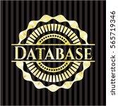 database golden emblem | Shutterstock .eps vector #565719346