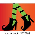 witches shoes vector | Shutterstock .eps vector #5657209