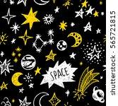doodle sketchy rustic space.... | Shutterstock .eps vector #565721815
