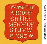 vintage messy hand drawn font... | Shutterstock .eps vector #565731292