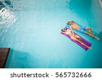 high angle view of young couple ... | Shutterstock . vector #565732666