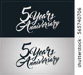 5 years anniversary celebration ...   Shutterstock .eps vector #565740706