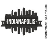 indianapolis skyline stamp... | Shutterstock .eps vector #565746388