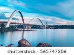 Jk Bridge And Paranoa Lake In...