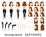 woman character creation set.... | Shutterstock .eps vector #565753492