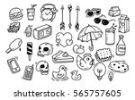 set of cute random doodle...   Shutterstock .eps vector #565757605