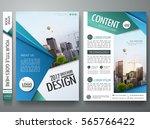minimal brochure report... | Shutterstock .eps vector #565766422