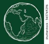 vector chalk illustration  ... | Shutterstock .eps vector #565769296