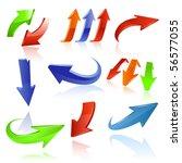 arrow icon set | Shutterstock .eps vector #56577055