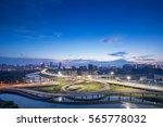 shanghai interchange overpass... | Shutterstock . vector #565778032
