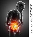 3d illustration of male feeling ...   Shutterstock . vector #565780555