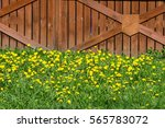 Wooden Fence. A Barrier ...