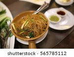 noodle vermicelli casserole | Shutterstock . vector #565785112